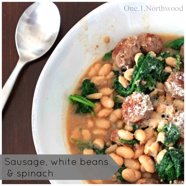 sausage white bean & spinach