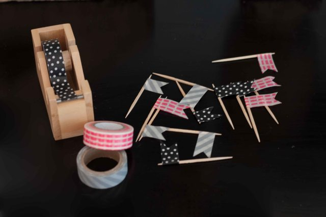 easy washi tape flags