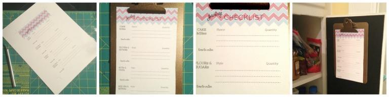 kitchen checklist Collage